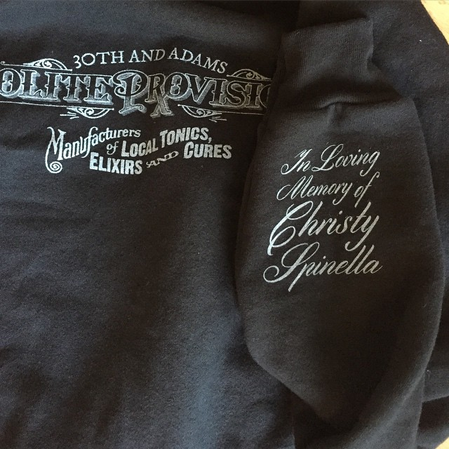 To commemorate the departure of our comrade Christy Spinella, @politesandiego will be releasing a very limited edition hoodie.